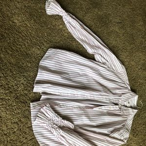GAP BUTTON DOWN WITH FLARE WRISTS